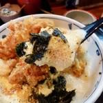 京雀 - 祇園とり天玉子丼セット 1260円