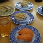 無添くら寿司 - 料理写真:千ベロ開始