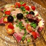 イタリアワイン食堂 OSTERIA RAKUTEN. - 鮮魚のカルパッチョ