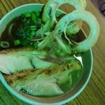 いかれたヌードル フィッシュトンズ - 水出しコーン茶と羅臼昆布の冷やし塩ラーメン