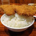 Donku - チキンカツ5枚定食930円(スープとライスのおかわり、ライス大盛サービス)