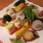 トラットリア チャオ - 彩り茹で野菜~バーニャカウダーソース~
