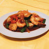 ホットウェーブ - 料理写真:海老のバジル炒め