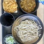 ゆで太郎 - ★とある朝食,ミニカレー丼セット 360円 無料クーポン使用し,かき揚げをプラス★