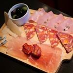 テルミニ - ハムとチーズの盛り合わせ