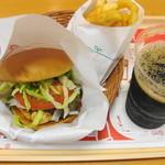 モスバーガー - 【2011-05-28】フルーツ味噌チキンバーガー オニポテセット