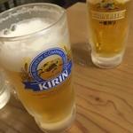 112441394 - 昼飲みセットのビールと通常ビール520円
