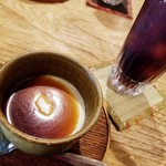 はーでぃ・がーでぃ - 料理写真:酒かすべっぴんプリン&アイスコーヒー