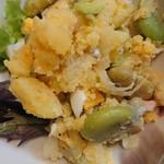 七彩 - 空豆のポテサラ