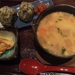 阿蘇庭 山見茶屋 - だご汁定食、たかなめしに変更