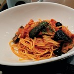 タリーズコーヒー - ナスとベーコンのスパゲッティ