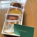 ラマルク - 焼菓子(ガレットブルトンヌ、ケークアプリコットオレンジ、フィナンシェ、オワゾードゥボヌール)