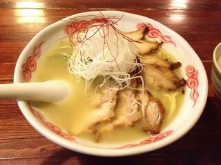 麺酒処 ぶらり - 特製鶏白湯ラーメンアップ
