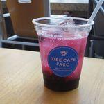 イデーカフェ パルク - ブルーベリーとビネガーのソーダ