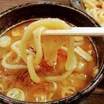 麺家 あべの - 私は通常のつけ麺(濃厚魚介つけ汁)したが 非常に好みの味で大盛り(520g) 余裕で完食