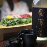 """銀座 あまくさ 青山外苑 - """"日本酒:金澤屋(純米 なつのほし)"""""""
