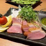 jidorisemmontenkoshitsuizakayakittei - 燻製合鴨のバジルソース  ¥890