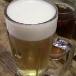 112479773 - 生ビール、ウーロン茶