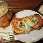 上島珈琲店 - ランチピザトーストLセット(1050円)