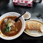 112484343 - 担々麺と手打餃子