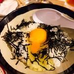 串カツ 田中 - 美女の卵かけご飯