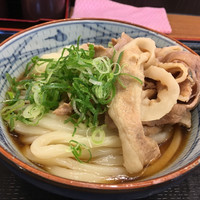 徳島 肉ぶっかけ 富士うどん-・豚肉ぶっかけうどん小