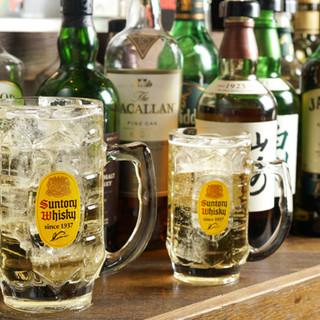 60種類のハイボールやウィスキー☆メガサイズで元気に乾杯!