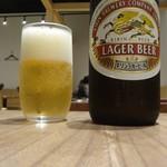 うなぎ 四代目 菊川 - 中瓶ビール
