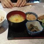 おうちカフェ 樹林 - サラダと前菜小鉢1
