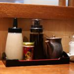 ぶた いながき - トンカツソース&ウスターソース&塩☆