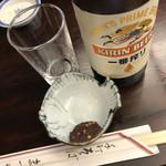 神田まつや - クールダウンのビール&味噌
