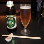 すし匠五条 - ノンアルコールビールも用意されています。