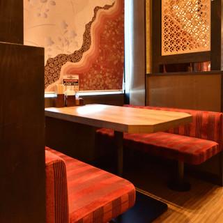 革新的なデザインが目を引く和空間でお食事を♪夜景もおすすめ。