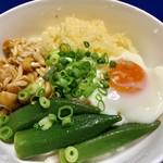 グリーンマート - この卵とオクラを使った、讃岐うどんを作成!!
