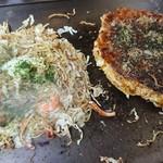 ふくい - 料理写真:焼きそばとお好み焼き