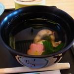 鮨大竹 - ホッキのいひも入りお吸い物♪