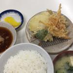 天ぷら定食ふじしま - 天ぷら定食¥580