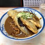 一休 - 料理写真:カレーそば600円+ナス天100円