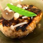 古材の森 - 古材の森ランチ 主菜は日替わり。この日は豆腐ハンバーグでした。