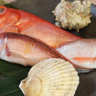 """京都市場より仕入れる""""天然魚""""◆旬の味覚を様々な形で愉しむ…"""