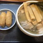 中華そば 華丸 - めんまそば 860円 いなり寿司 120円