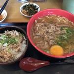 福福らーめん - 料理写真:肉玉醤油ラーメン ミニ丼セット