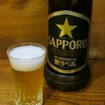 112564954 - 瓶ビール(サッポロ生ビール黒ラベル)