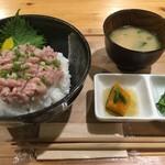 ジオカフェ - ネギトロ丼800円