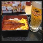 なか卯 - うな重&生ビール