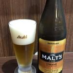 かわはち屋 - 瓶ビール550円