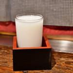 北海道料理 三平 - 北の誉 にごり酒 親玉(グラス)@400円