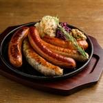 特製ドイツソーセージ5種盛り Five Sausage Platter