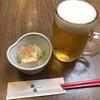 謙徳蕎麦 - 料理写真:湯豆腐&生ビール(寄り道セット)