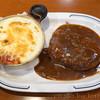 ちいさなフライパン - 料理写真:ハンバーグ&ドリア
